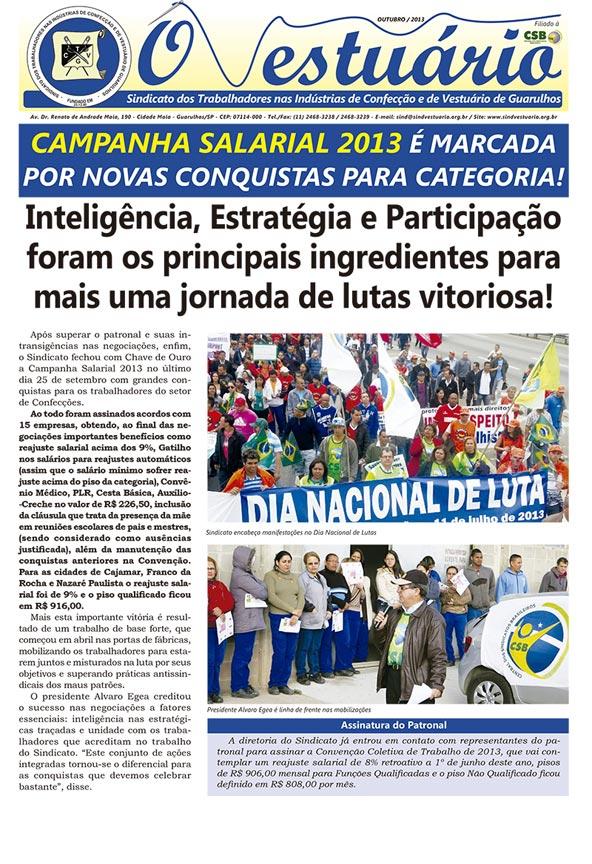 Jornal O Vestuário - Ed. Outubro 2013