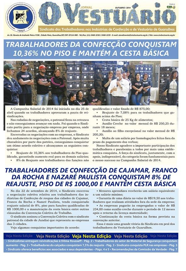 Jornal O Vestuário - Ed. Outubro 2014