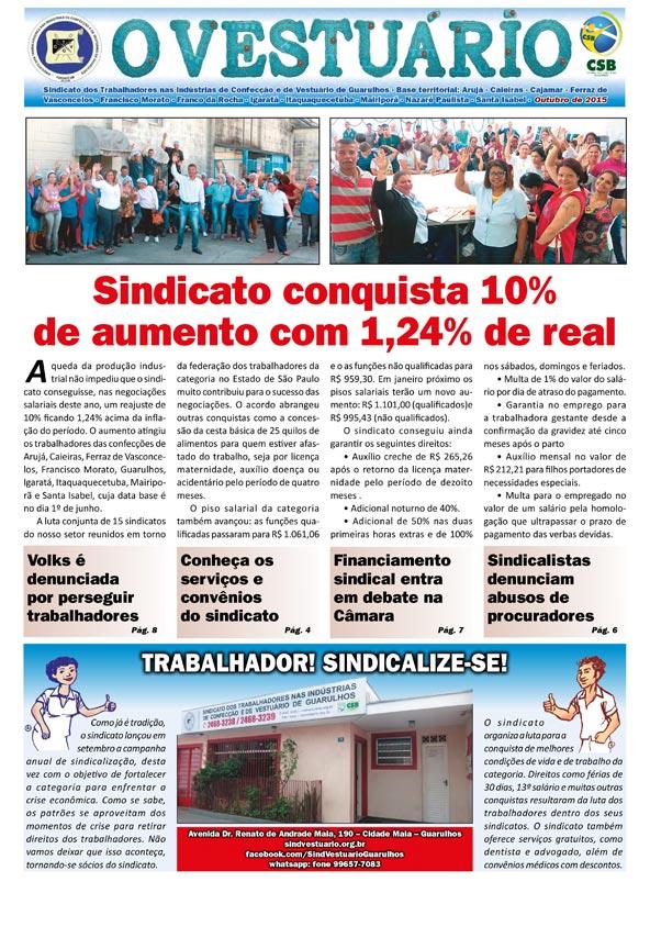 Jornal O Vestuário - Ed. Outubro 2015