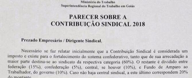 Contribuição sindical aprovada em Assembléia é obrigatória, empresa que não recolher sofrerá multa, declara Ministério do Trabalho