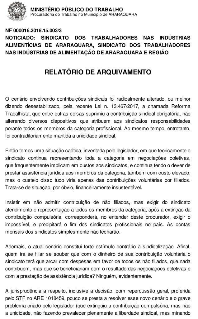 Procurador do Trabalho de Araraquara defende que toda categoria pague a contribuição sindical